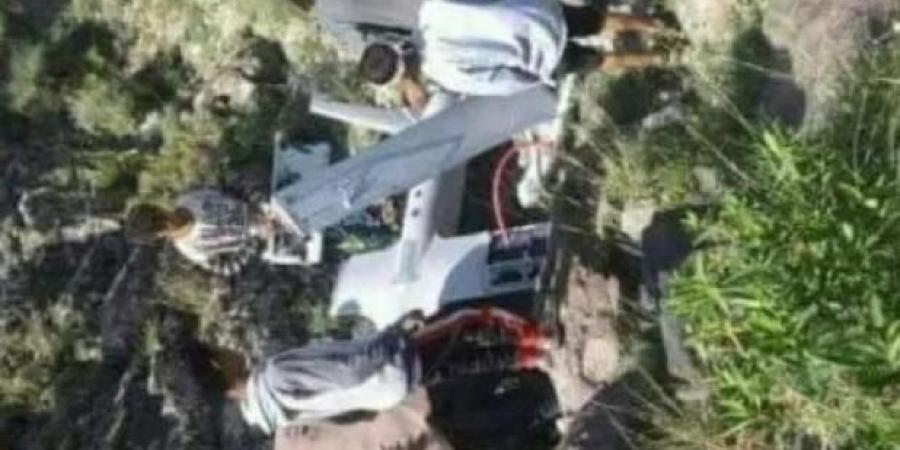 سقوط طائرة حوثية في محافظة إب