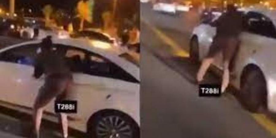 شاهد..القبض على مقيم يمني دهس رجل امن سعودي خلال احتفالات اليوم الوطني