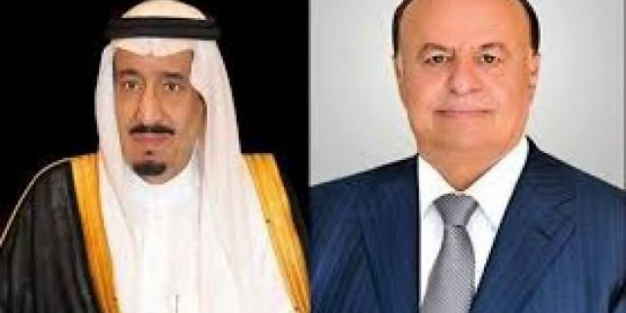 الرئيس هادي يتلقى برقيتين من الملك سلمان وولي عهده صباح اليوم السبت